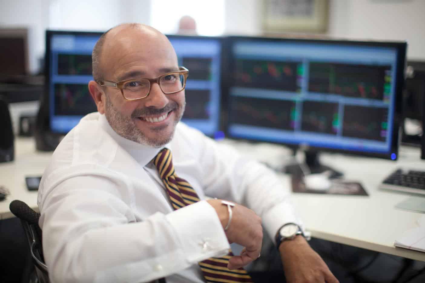Joe Rios at trading desk