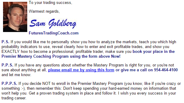 Sam Goldberg Futures Trading Coach